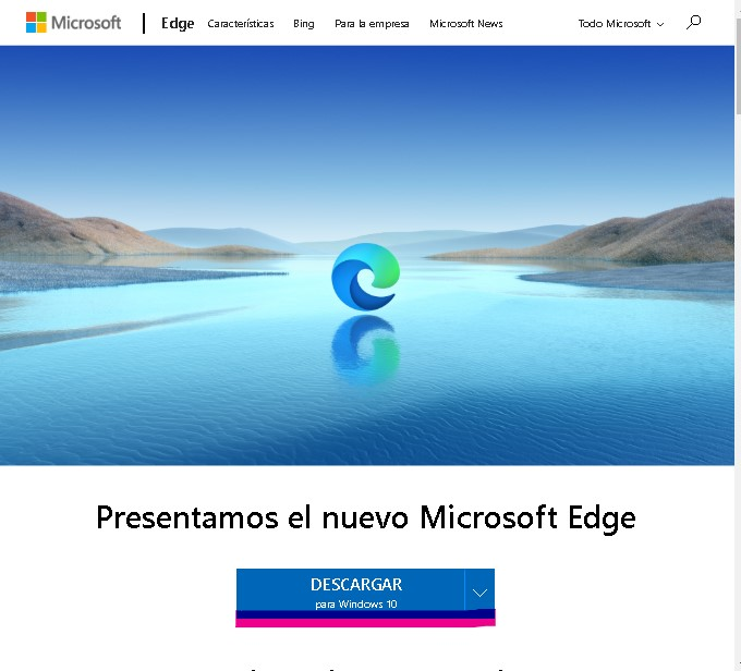 Descargar Edge Chromium para PC.