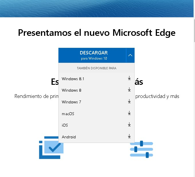Descargar Edge Chromium para Windows