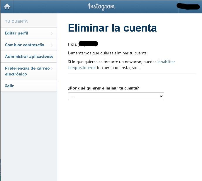 como eliminar tu cuenta de instagram paso a paso