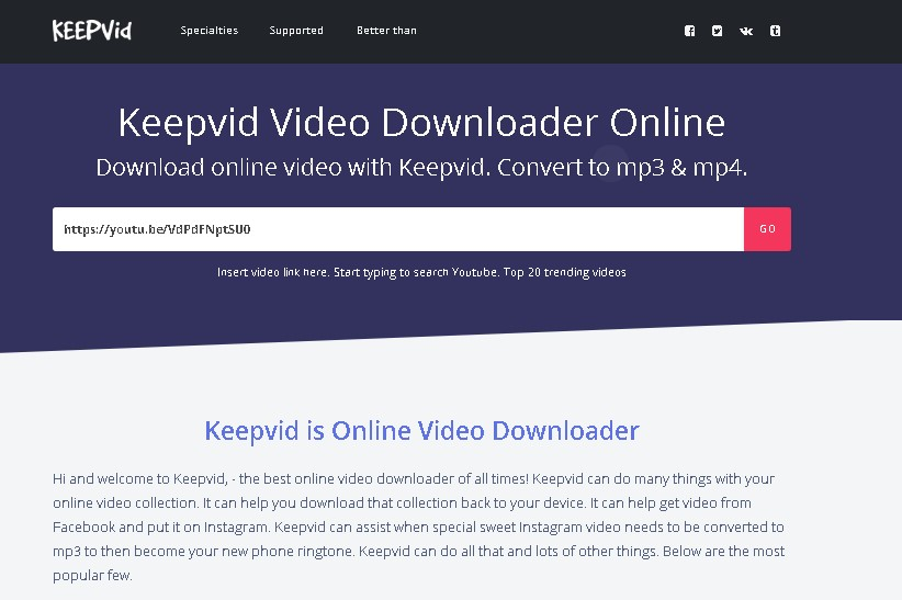 descargar video de youtube con keepvid