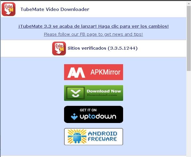 Descargar desde Youtube con una App para Smartphones (Tubemate)